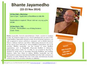 Bhante Jayamedho Nov2014