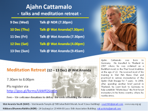 Ajahn Cattamalo Dec 2015